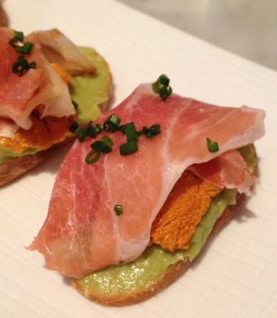 Avocado Prosciutto Crostini Recipe — Dishmaps