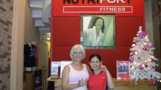 Nutrifort Fitness: Nga and I are relaxing after the workout!