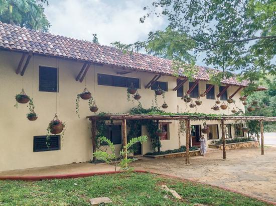 La Casa del Mago: Gardens and parking area