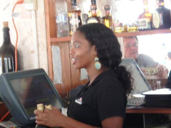 Augusto's Restaurant: Bartender-great lady.