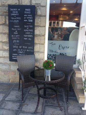 Cafe Divine: Enjoy our outdoor seating