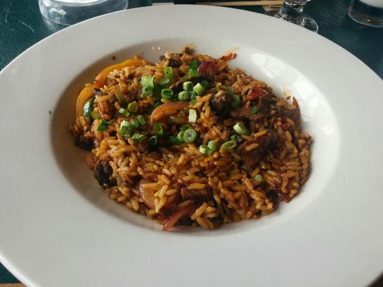 Masa's Bar & Grill: Special of the day: Beef over rice with veggies