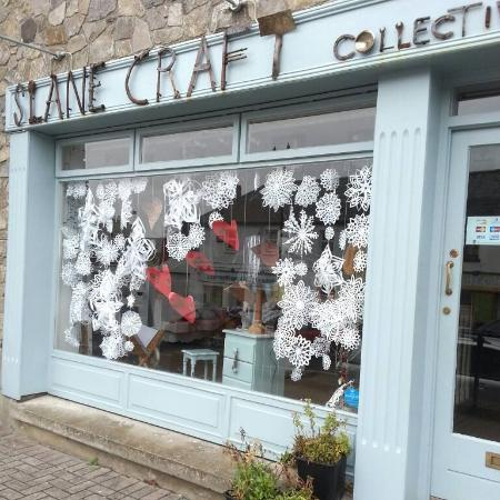 Slane, Ireland: Shop Front with its up-cycled scrapage sign