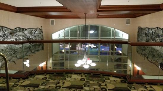 Radisson on John Deere Commons : Lobby as seen from second floor. Cool art. :)