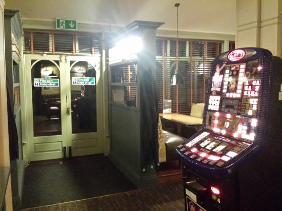 Door leading to outside smoking area fruit machine for Door 55 reviews