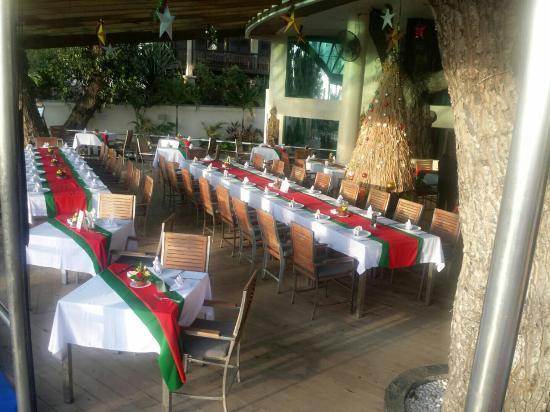 Seaside Restaurant Legian Christmas table set up & Christmas table set up - Picture of Seaside Restaurant Legian ...