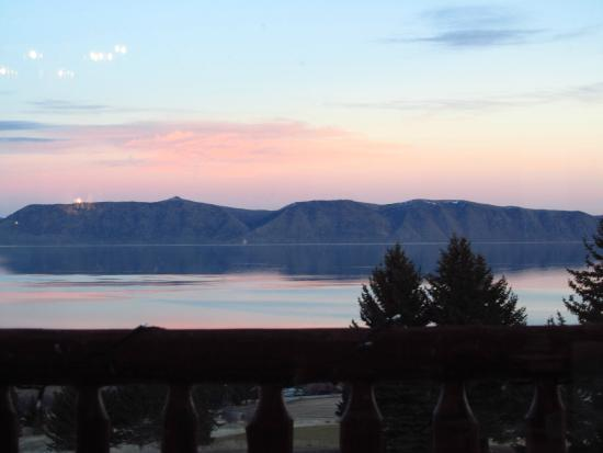 Cooper's at Bear Lake West Restaurant and Sports Bar: sunset view from the restaurant