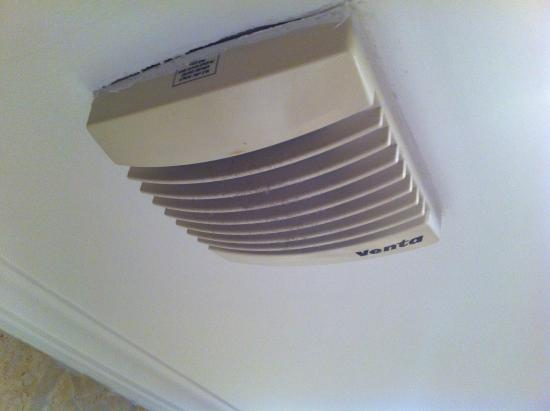 Ambassador Hotel: the bathroom extractor fan though easy to reach was dirty