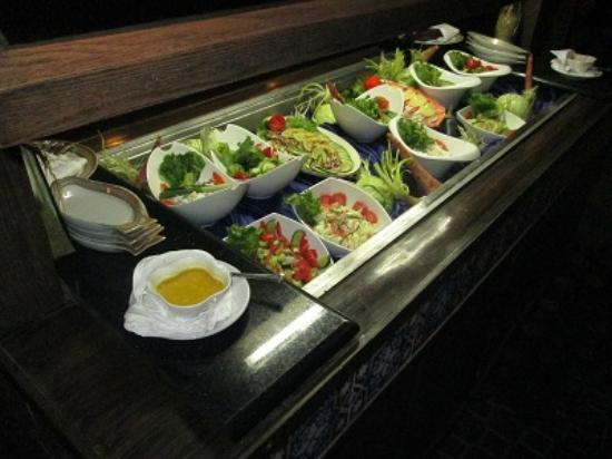 Salad Bar At The Casbah Restaurant Picture Of Beach Luxury Hotel