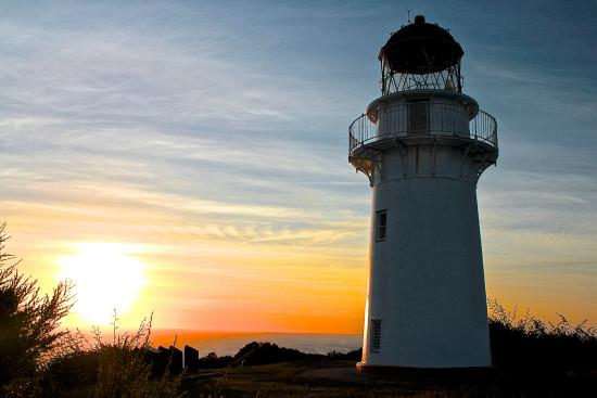 East Cape Lighthouse: Sunrise at the lighthouse
