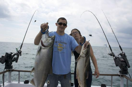 King salmon picture of pleasure unit charters hamlin for New york fishing trips