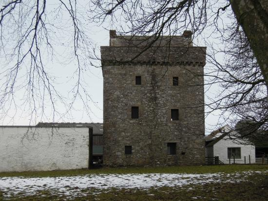 Dumfries and Galloway, UK: Drumcoltran Tower in February