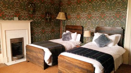 This is my favourite room  I love the William Morris wallpaper.  Picture of Kirkfield Bed and