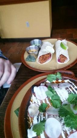 Cantina Feliz: Fish Tacos/Cauliflower Enchilada