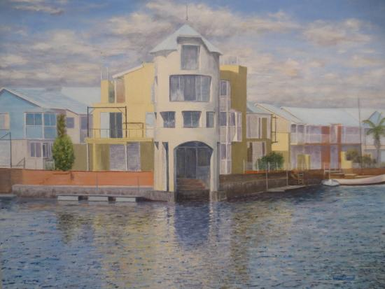 Knysna Quays Accommodation : Our view on a painting.