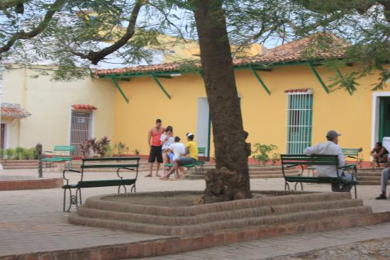 Hostal Amatista : The square at the end of the street