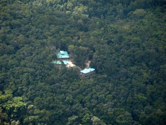 Georgeville, Belice: Aireal photo of Falcon Hill Lodge in the Maya Mountains