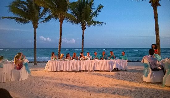 Barcelo Maya Colonial Wedding Reception On The Beach