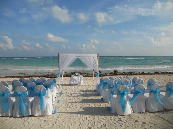 Barcelo Maya Colonial Wedding Setup For Our Beach