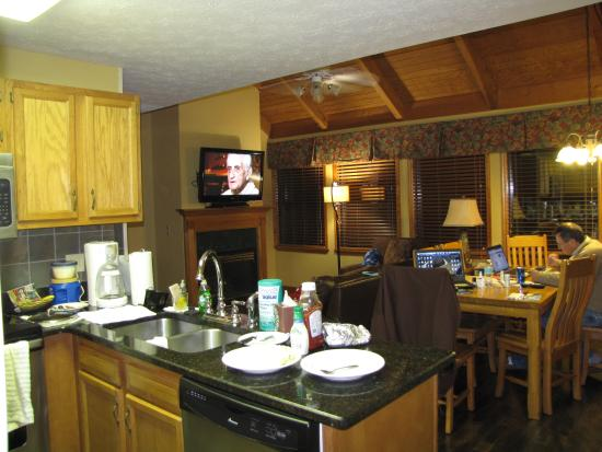 Kitchen Dining Living Room Gas Fireplace Picture Of