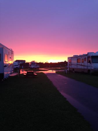 Hatteras Sands Campground: Sunset