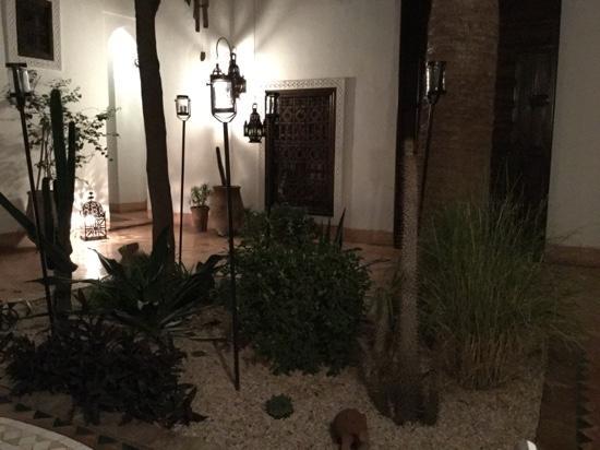 Central courtyard at Dar Nouba