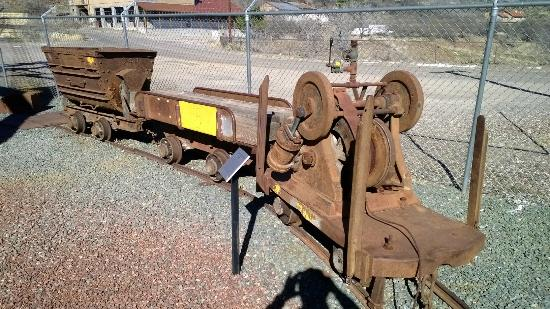 Audrey Headframe Park: Mining cart