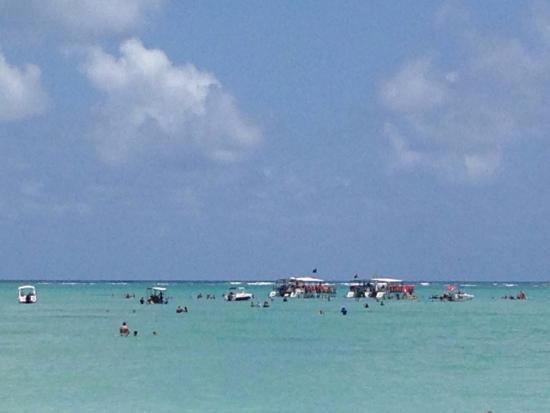 Xareu Beach: Mar transparente! Lindo!