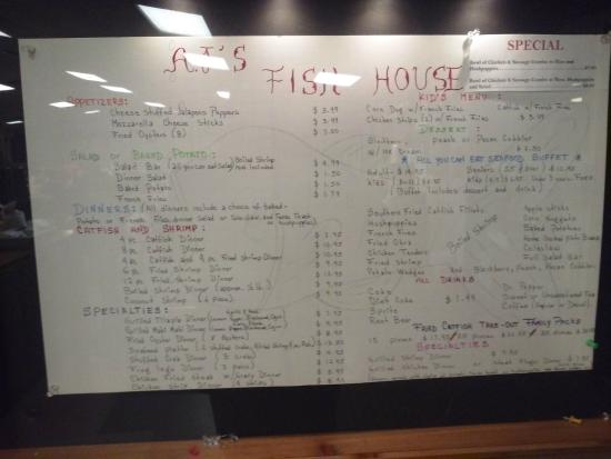 Menu but just shell out the 15 and go to the buffet for J j fish menu