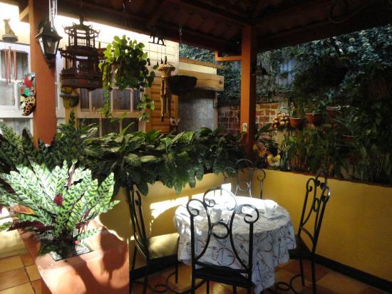 Angels Hotel: Jardín para desayunar, leer o descansar