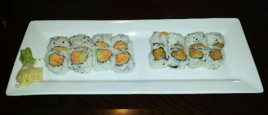 Sakura Sushi: Spicy Crab and Spicy Yellowtail rolls