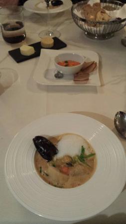 Restaurant Balthasar: Fish soup. Yum!