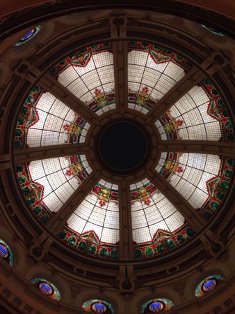 San Mateo County History Museum: One of two fabulous Stainglass skylights