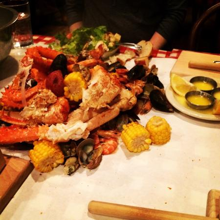 The Crab Pot Seafood Restaurant King Legs Shrimp Clams Mussels