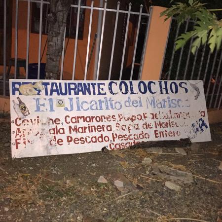 Soda Colochos: Restaurant's sign