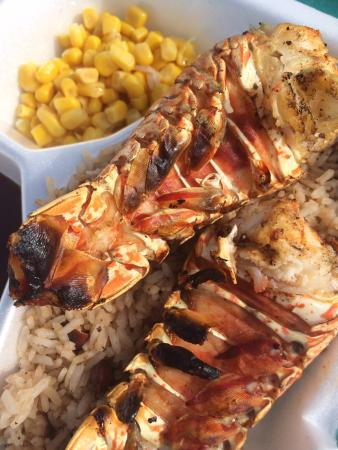 Goff's Caye: Fresh lobstah