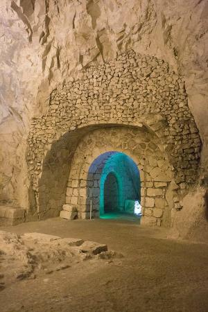 Beit Shearim: A large room inside one of the burial caves