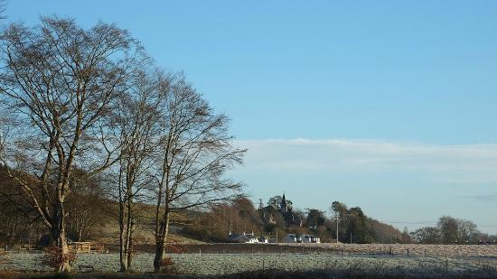 View of Wester Caputh from other side of River Tay