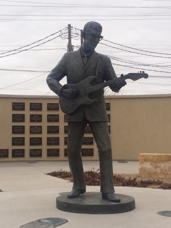 Buddy Holly Statue and West Texas Walk of Fame: Right across the street from the center!