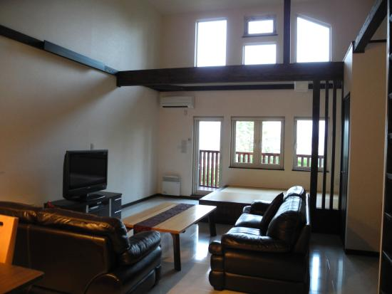 Lounge area of two-bedroom chalet