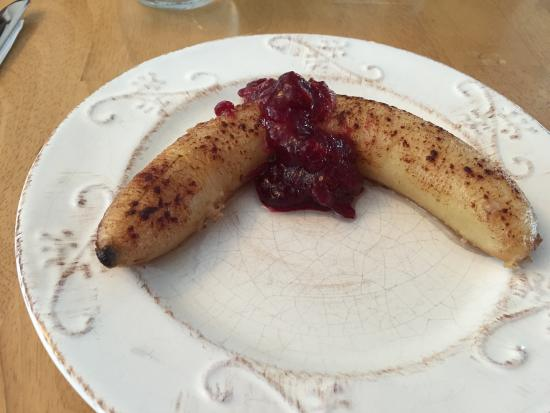 Bristol, NH: Baked banana