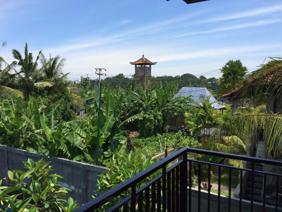 Putri Ayu Cottages: View from balcony of room 103