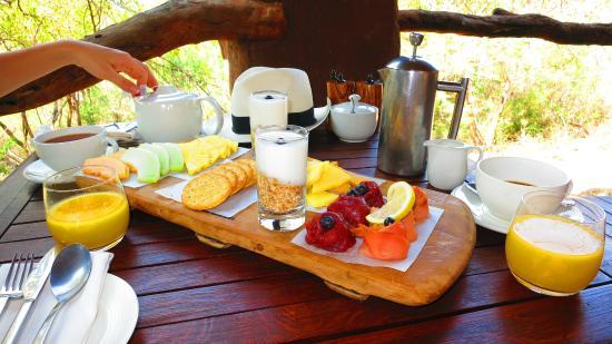 Madikwe Game Reserve, جنوب أفريقيا: Breakfast platter