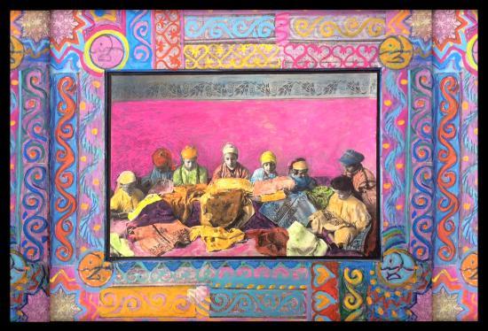 "Marrakech Henna Art Cafe: A piece of the ""Morocco Adorned"" series by Lori K Gordon."