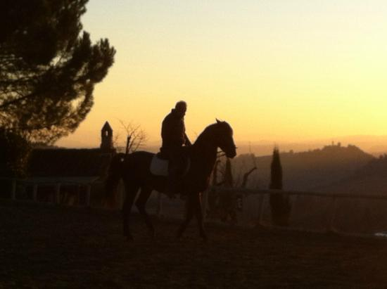 Il Paretaio: Riding until sunset:)