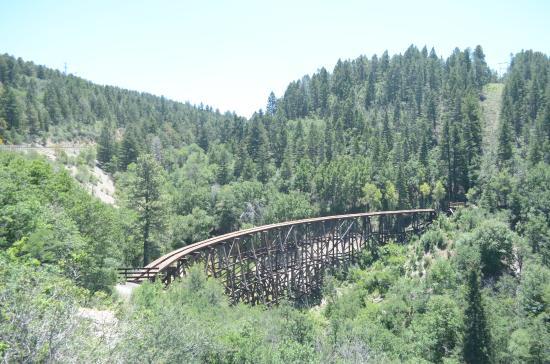 New Mexico Rails-to-Trails: il ponte di legno