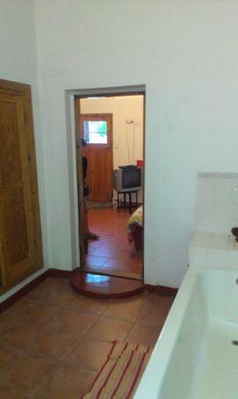 Limberlost : Large bathroom looking toward bedroom