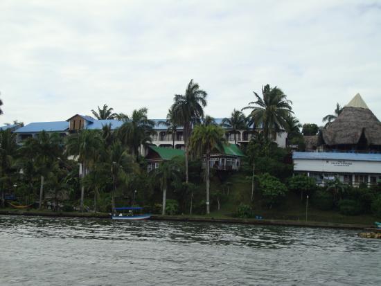 Hotel Villa Caribe: Hotell Villa Caribe arrivando dal mare