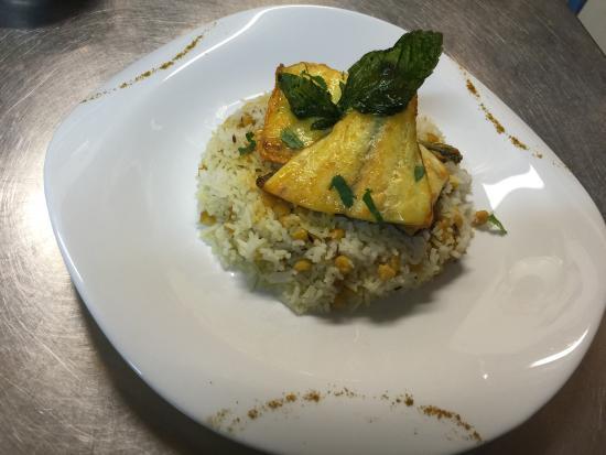 le royal indien : Riz avec dall et poisson