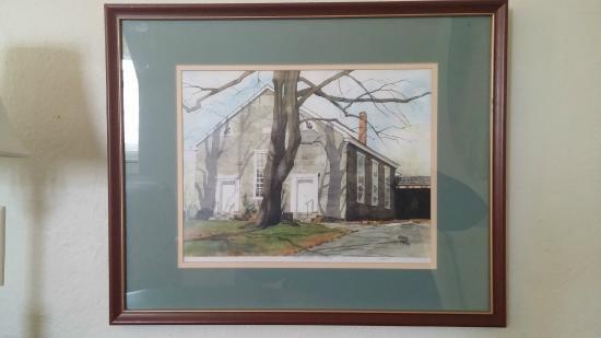 Chimney Hill Estate & Ol' Barn Inn: Original Watercolor in the room